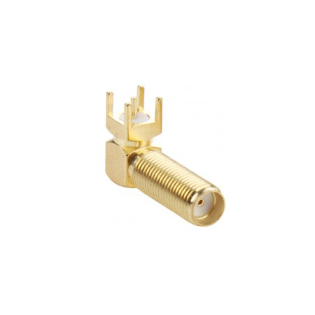 20F-RA-PCB-EX: SMA Female Right Angle for PCB Mount - Extended Length