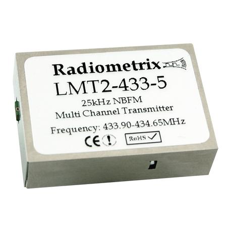 LMT2-433-5: Radiometrix Low Cost Multi Channel TX Module