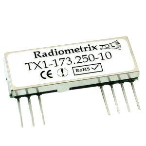 TX1-173.225-10: Radiometrix FM Transmitter - 173.225 MHz