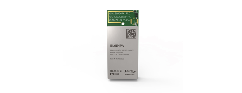 The Nordic Bluetooth 5 nRF52840 SoC-powered BL654 Series from Laird Connectivity