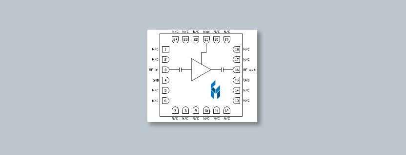 CMD315C4 RF Amplifier by Custom MMIC