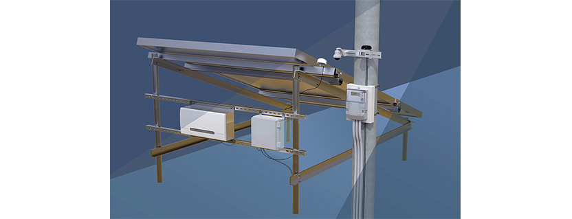 Cellular IoT-based solar power monitoring system enables remote supervision of power conversion and environmental data
