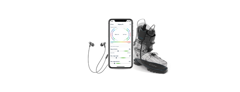 Bluetooth LE sensor-based ski training solution helps skiers improve technique with live audio feedback during run