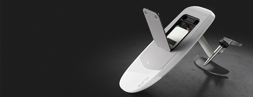 Bluetooth LE electric board allows watersport enthusiasts to 'surf' above water and control speed with handset