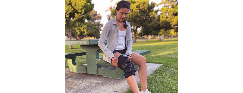 Bluetooth LE knee brace provides wireless heating/cooling therapy for user recovery