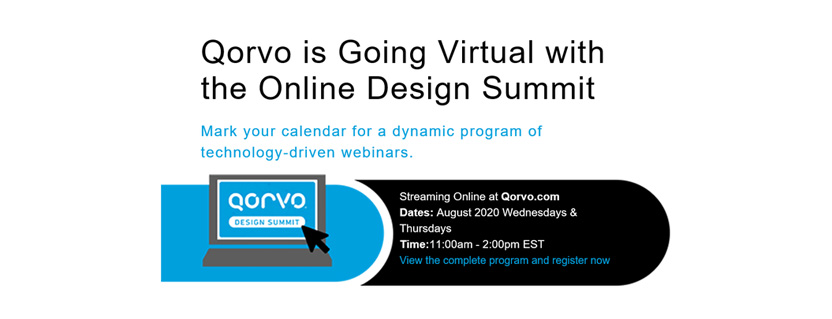 Qorvo is Going Virtual with the Online Design Summit