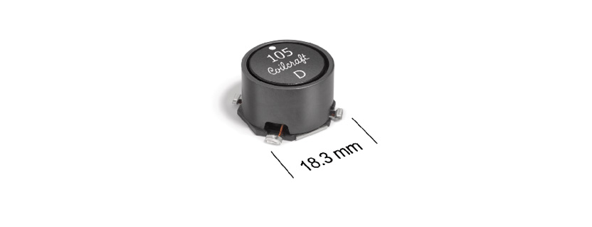 New Coilcraft Power Inductors Offer Exceptionally High Current Ratings and Low DCR