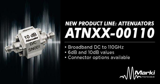 New Line of DC to 110 GHz Precision-Grade Attenuators