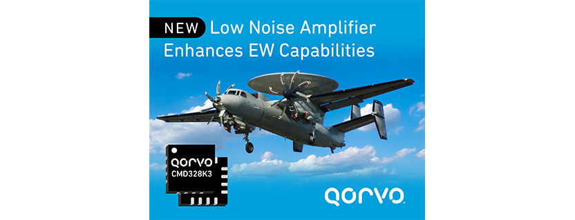 Qorvo® Launches Best-in-Class Low Noise Amplifier for Broadband Defense Receivers