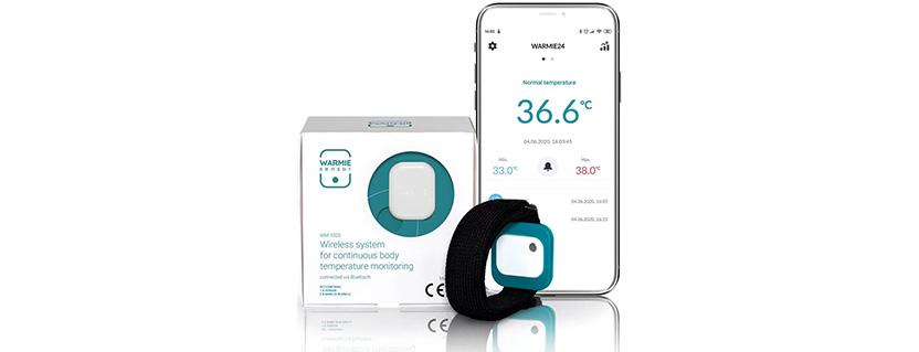 Intensive care medical wireless temperature sensor