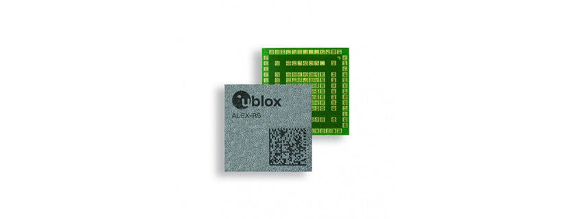 u-blox ALEX-R5 integrates cellular and GNSS technology into a miniature SiP form factor with zero compromises