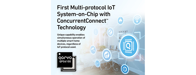 Qorvo® Launches First Smart Home Device Controller to Support Simultaneous Wireless Communications