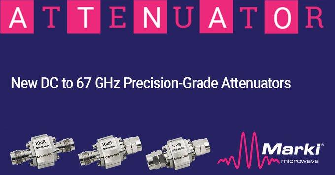 Marki Microwave New DC to 67 GHz Precision-Grade Attenuators
