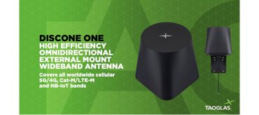 Taoglas Launches the Discone One, a New, High-Performance, Wideband Omnidirectional Antenna for Use in Mission Critical Communications